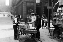 Clam seller in New York City