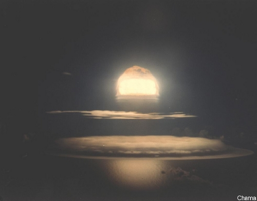 Johnston Island test atomic explosion, 18 October 1962